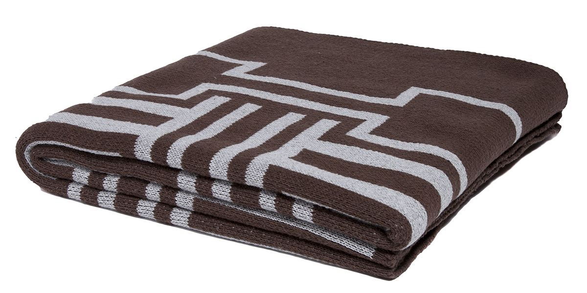 Illusions Chocolate/Aluminum-  <a href='https://www.in2green.com/collections/stacy-garcia-collection/products/eco-illusions-throw' style='text-decoration: underline;'>Where to Buy</a>