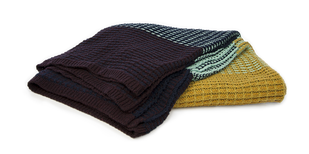Stitch Stripe Multi-Color-  <a href='https://www.in2green.com/collections/stacy-garcia-collection/products/eco-texture-throw' style='text-decoration: underline;'>Where to Buy</a>