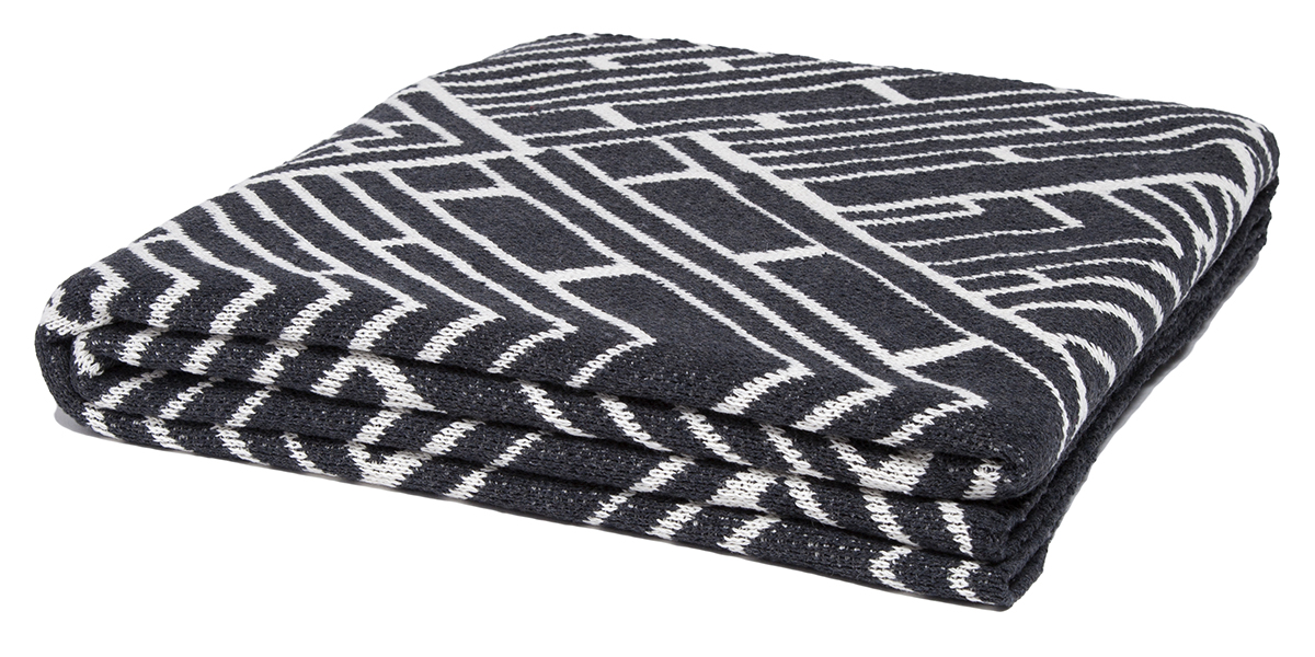 Trellis Charcoal/Milk-  <a href='https://www.in2green.com/collections/stacy-garcia-collection/products/eco-trellis-throw' style='text-decoration: underline;'>Where to Buy</a>